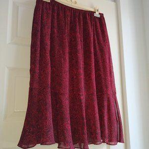 🛍️3/$25 Penningtons sheer ruffle skirt plus size
